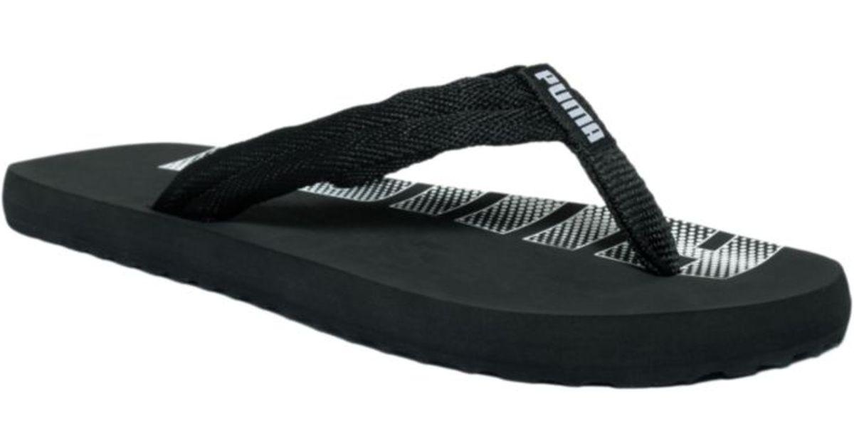 prix compétitif cfce8 896bf PUMA Black Epic Flip Flop Sandals for men