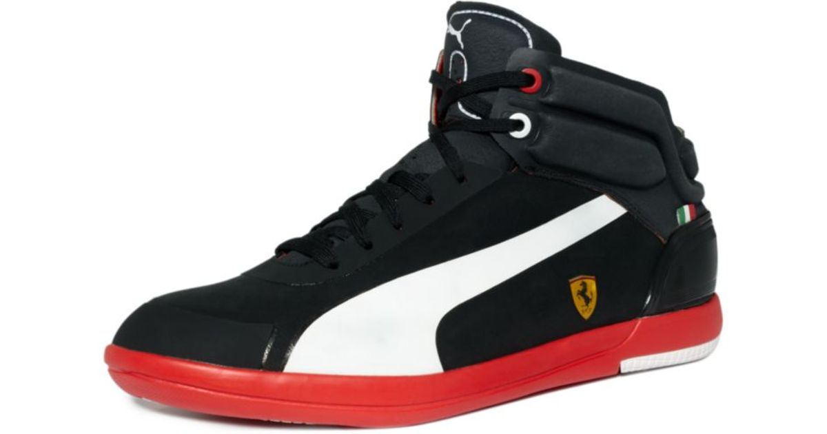 PUMA Black Driving Power Light Mid Sf Sneakers for men