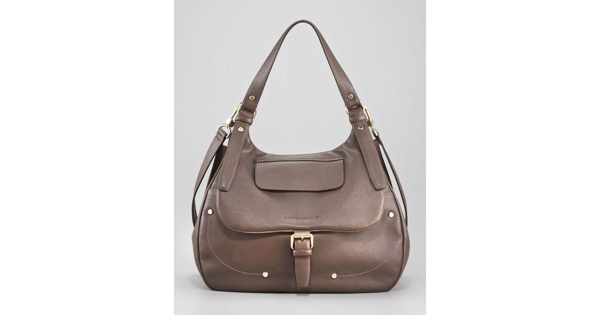 8de1eff69b3 Longchamp Balzane Hobo in Brown - Lyst