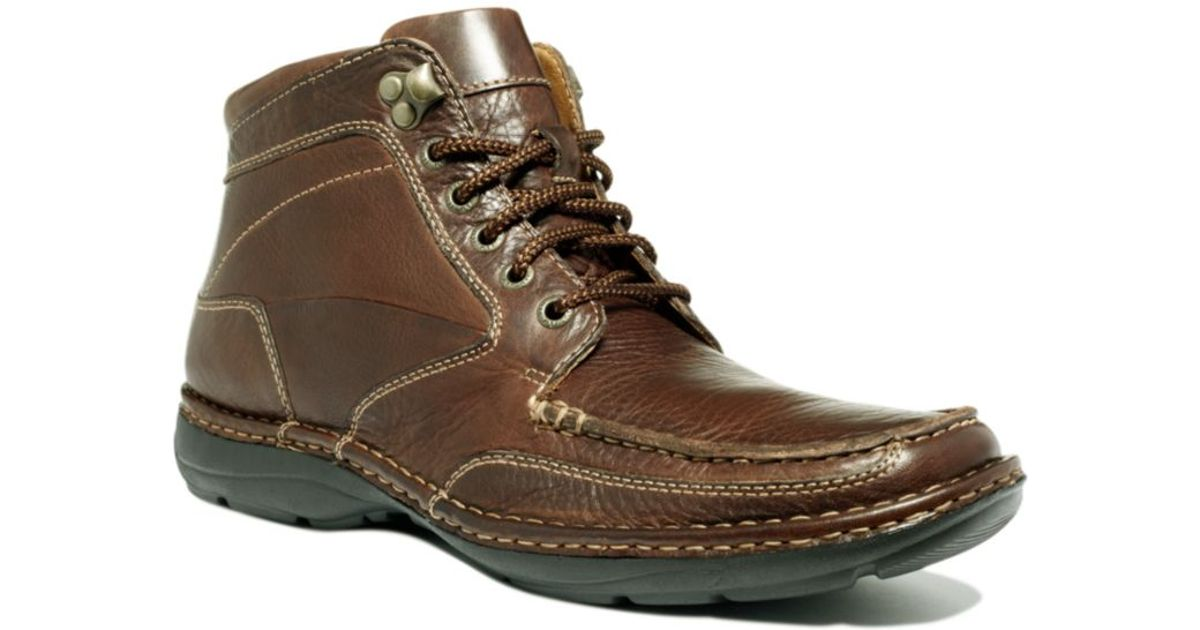 Johnston Amp Murphy Cumberland Lace Up Boots In Brown For