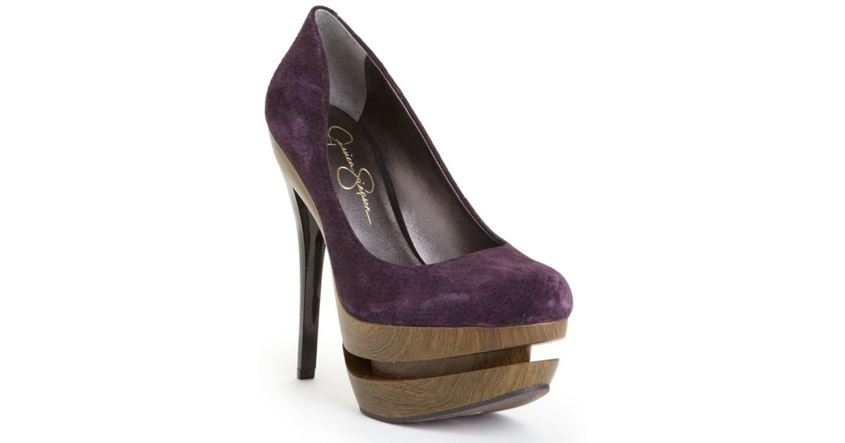 3f6f7a5cd9a Lyst - Jessica Simpson Collie Platform Pumps in Purple