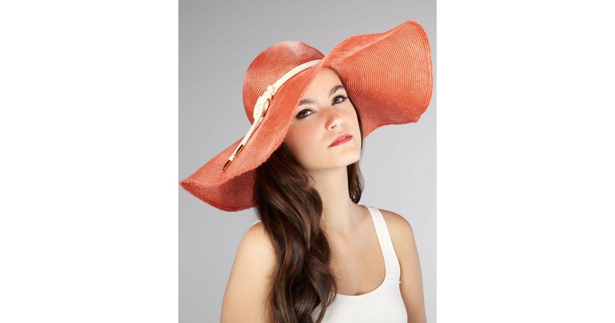Lyst - Eugenia Kim Coral Sun Hat in Pink 72f27e1a26c