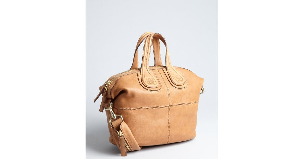 1a0e50120e25 Givenchy Cinnamon Lambskin Nightingale Small Convertible Tote in Natural -  Lyst