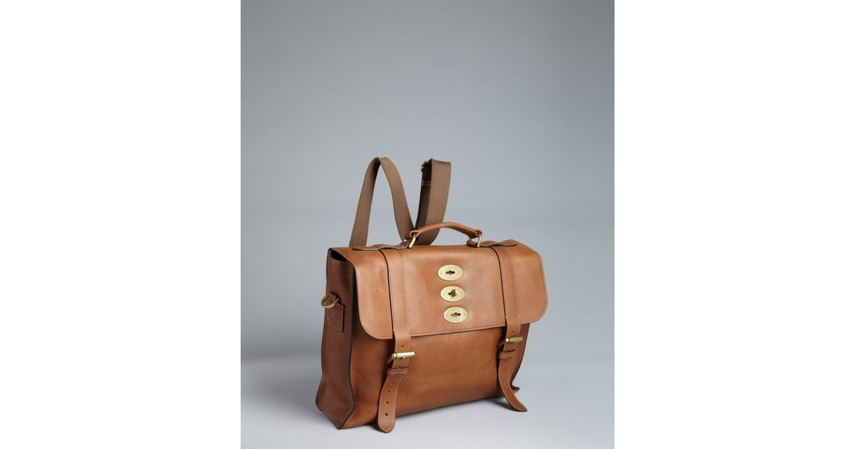 1e3eab5f2ef9 ... coupon code for lyst mulberry brown leather ted convertible messenger  bag in brown c5903 e9df5