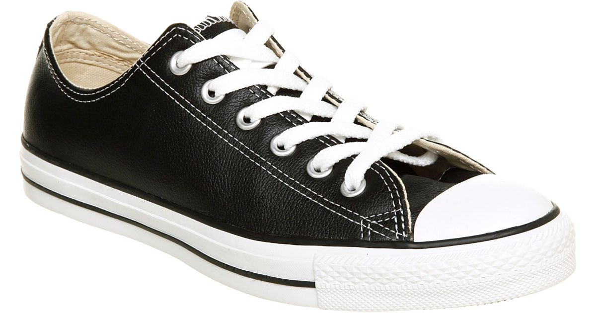 daf318a122c ... ireland lyst converse all star leather ox low black leather in black  for men acfb0 2bfa0 ...