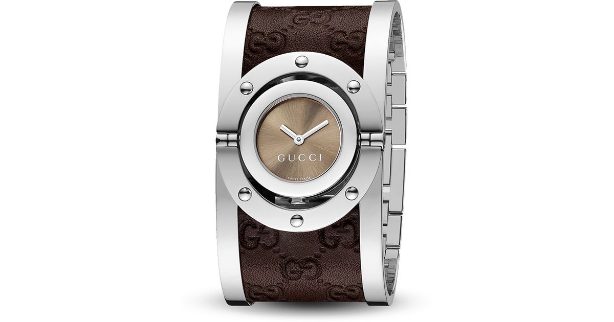 e13e3a675df Lyst - Gucci Twirl Stainless Steel Watch 235mm in Metallic