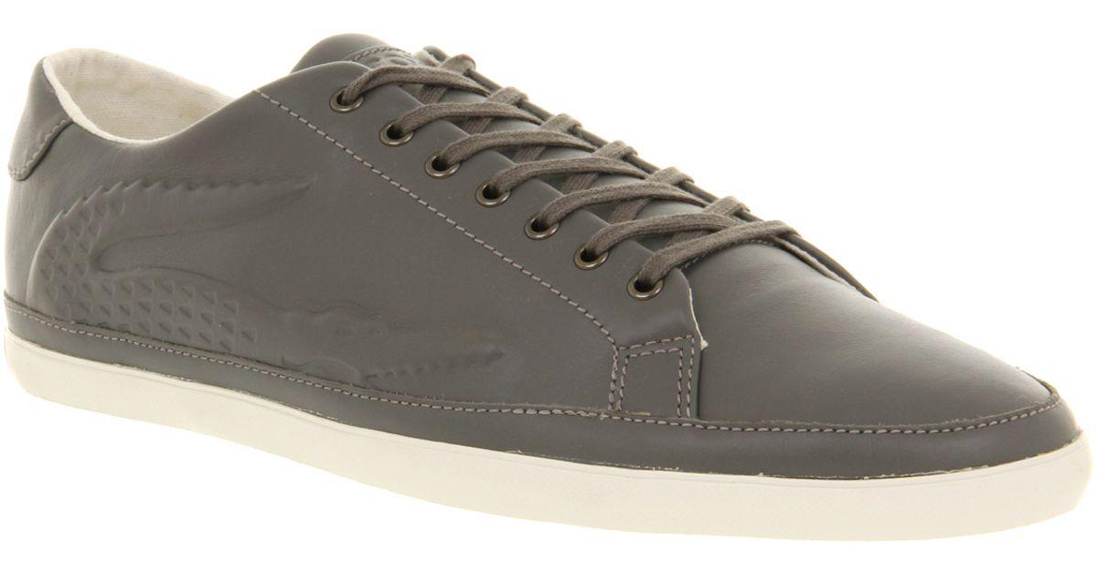 ef8996e31713b4 Lacoste - Gray Bocana Embosed Snkr Grey Leather for Men - Lyst