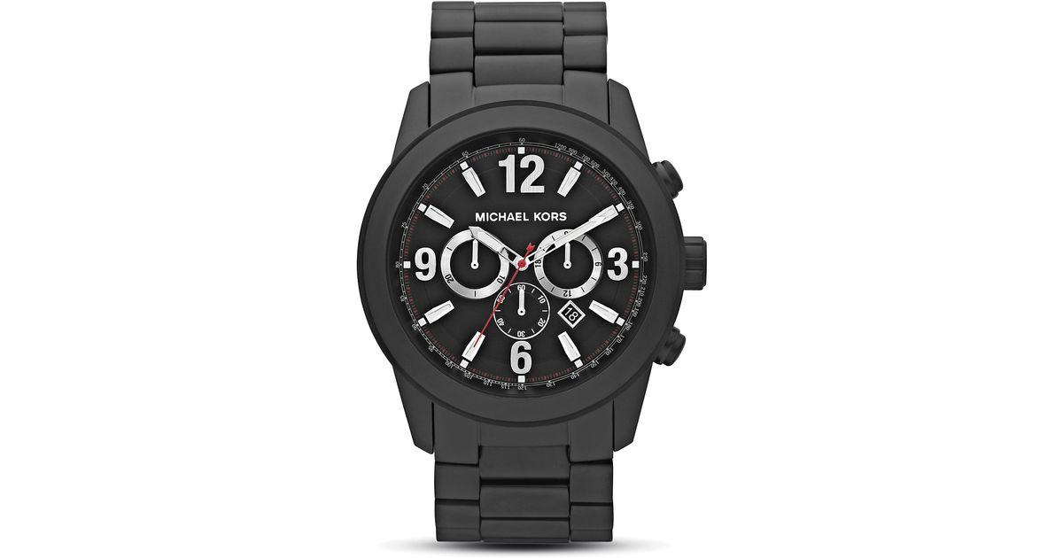9251a0e55fc8 Lyst - Michael Kors Michael Mens Round Opaline Black Watch 51mm in Black  for Men