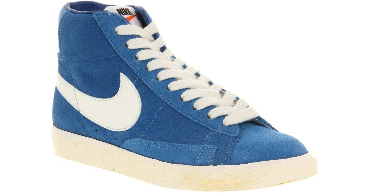 blue nike blazers