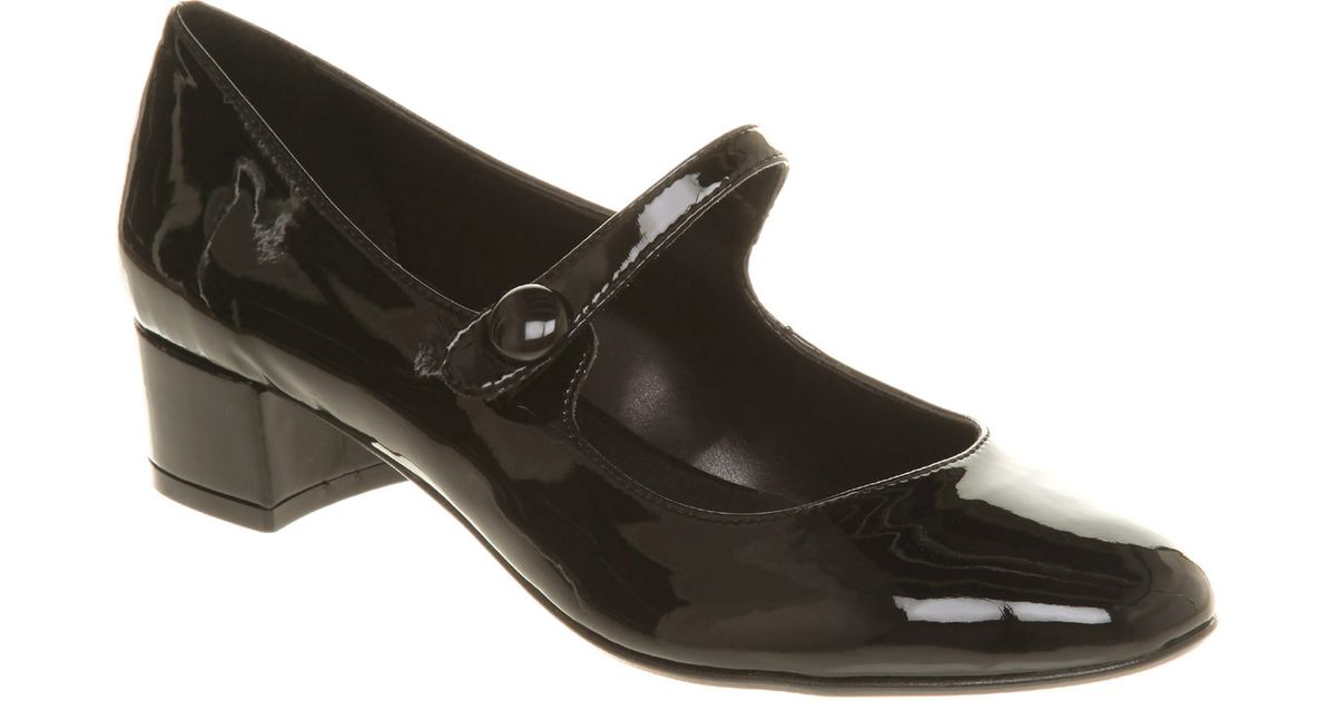 01900d8ef9ab4a Office Hiccup Bar Shoe Black Patent Pu in Black - Lyst