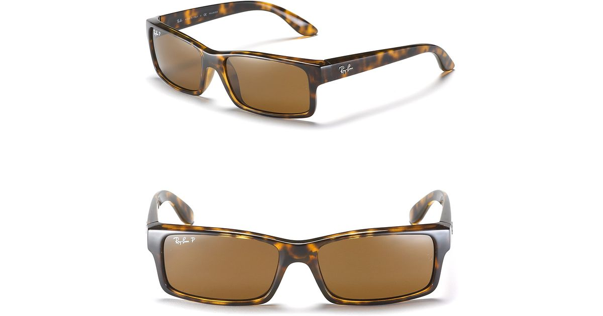 Lyst - Ray-Ban Plastic Frame Polarized Sunglasses in Brown for Men
