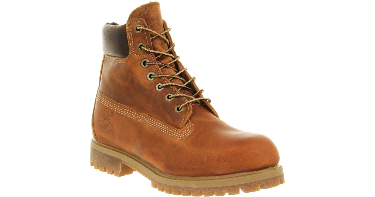 bc71a30ada4ad Timberland Brown 6 in Vintage Boot Burnt Orange for men