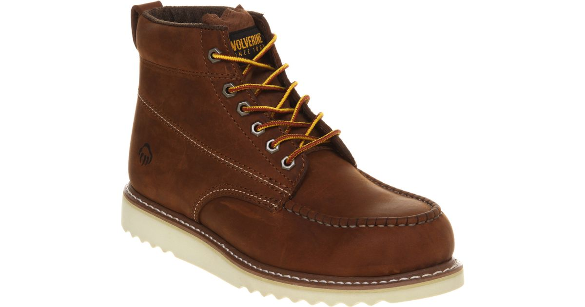 6adb9ce5e8a Wolverine - Brown Apprentice Wedge Boot Tan Leather for Men - Lyst