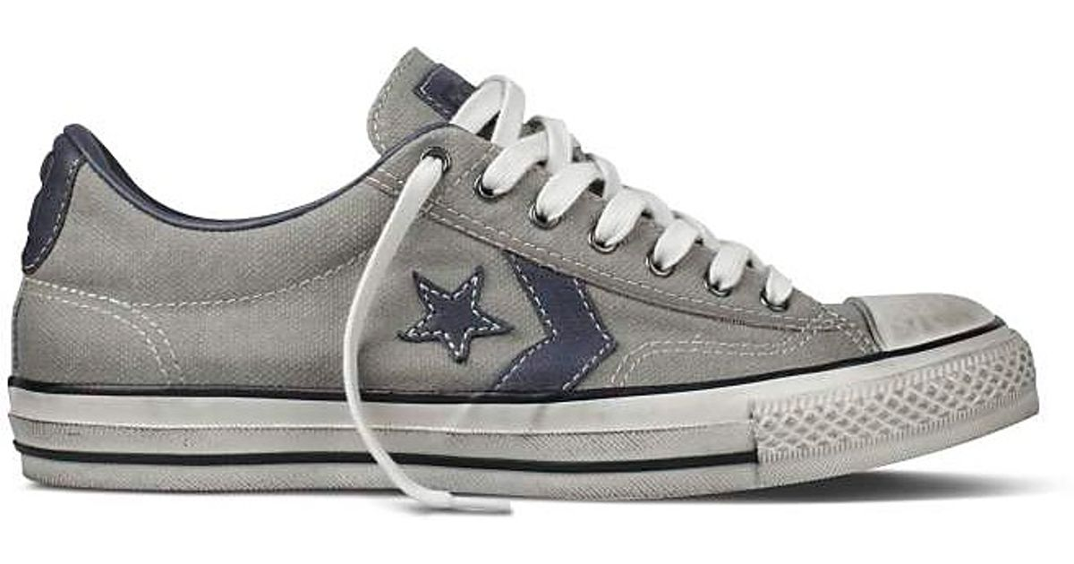 newest 7635d 5c31b ... low price lyst converse john varvatos star player ox sneakers in gray  for men 626a8 e0f6c