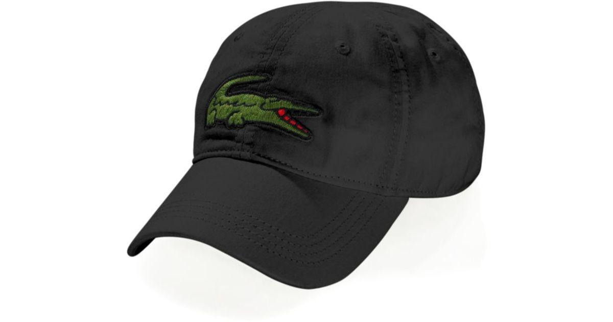 c25cc6c8 Lacoste Black Oversized Croc Hat for men