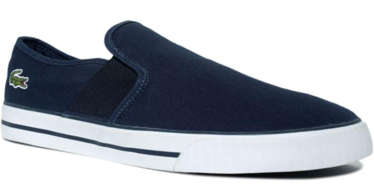 11681f058 Lyst - Lacoste Mason Slip On Sneakers in Blue for Men