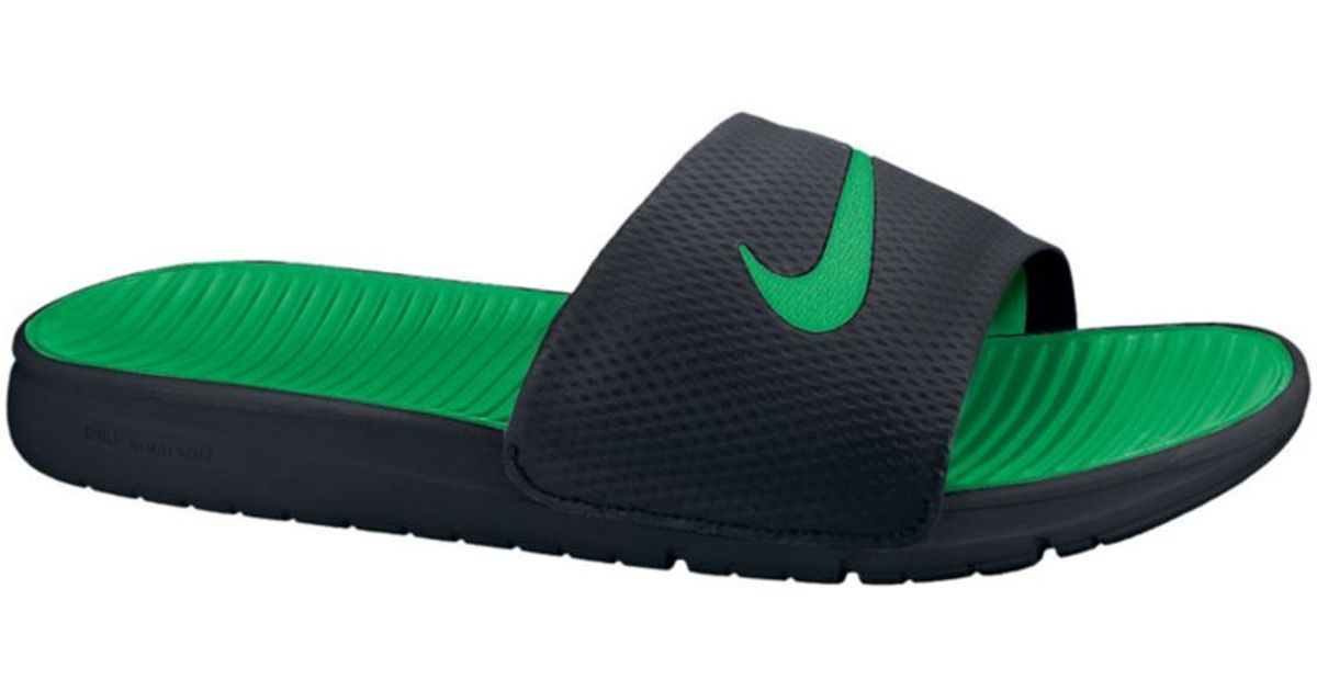 210d56240 Lyst - Nike Benassi Solarsoft Slides in Black for Men