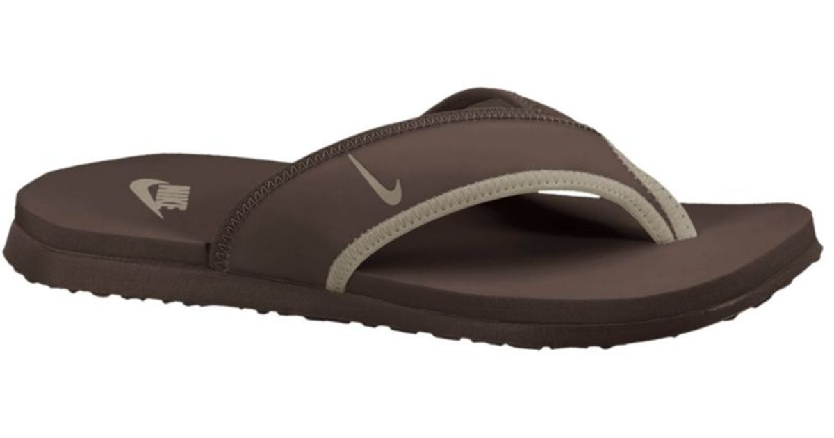 Nike Brown Celso Thong Plus Sandals for men