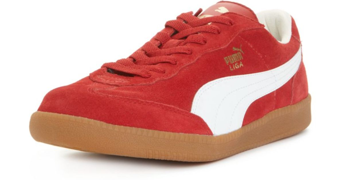 PUMA Liga Suede Sneakers in Red for Men