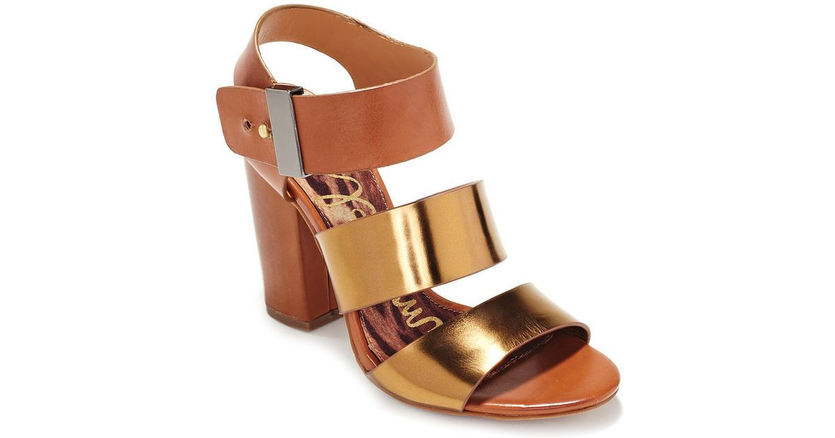 ec89eacf8e15ab Lyst - Sam Edelman Sandals Yelena Strappy in Brown