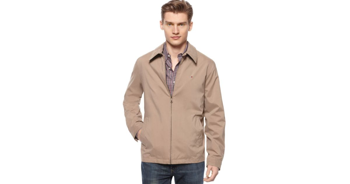 Tommy hilfiger Classic Lightweight Jacket in Natural for Men | Lyst