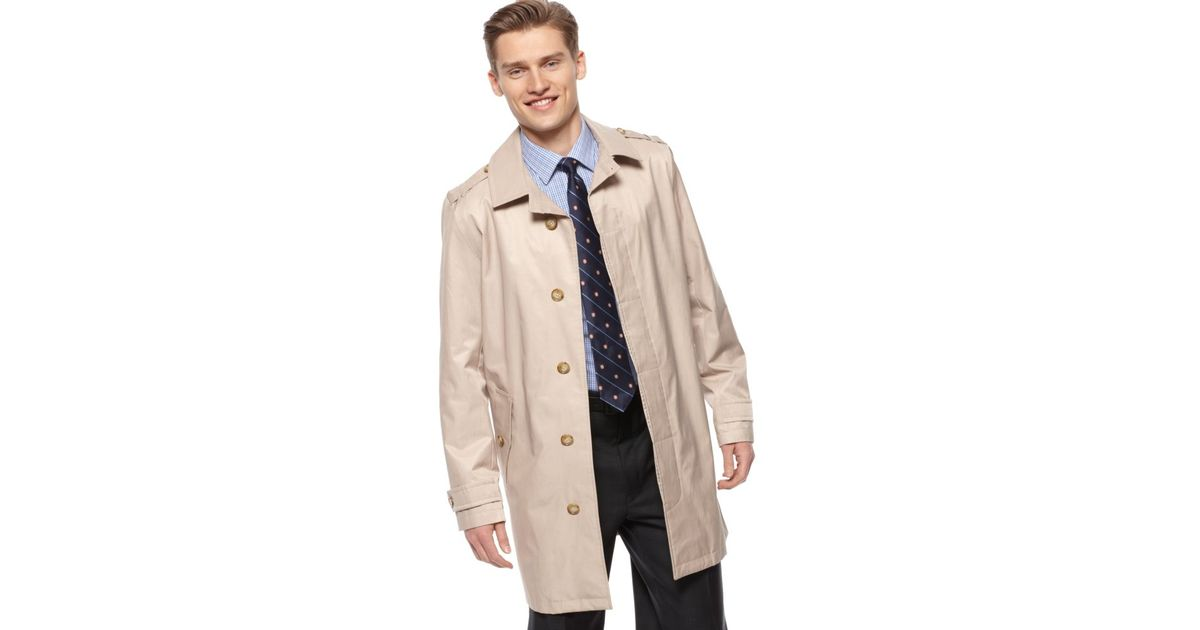 Lyst Tommy Hilfiger Performance Rain Trench Coat In