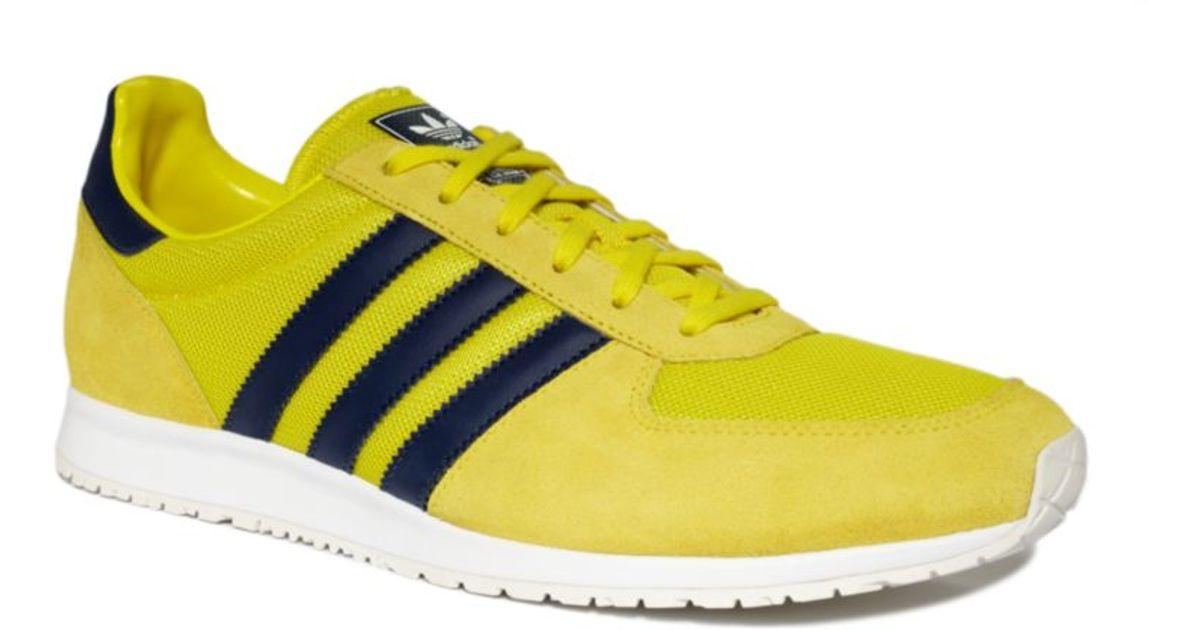 Adidas Yellow Originals Adistar Racer Sneakers for men