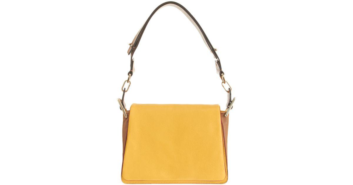 Chlo�� Colorblock Jade Medium Shoulder Bag in Yellow (mimosa) | Lyst