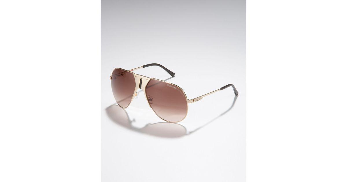 96c8e96fc349 Lyst - Carrera Vintage Aviator Sunglasses, Golden in Metallic for Men