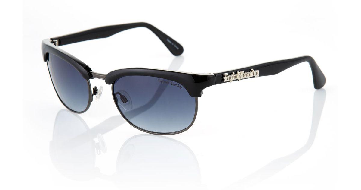 1a39e38b94bf Lyst - English Laundry Barkley Plastic Sunglasses Black in Black for Men