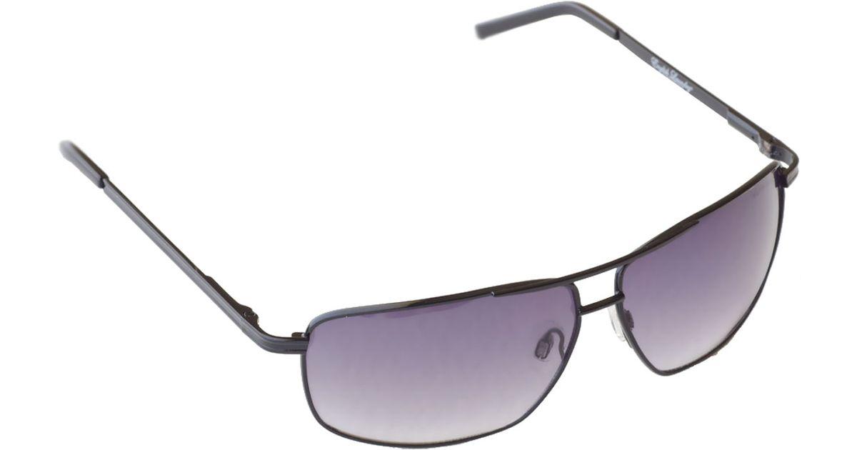 71fe8b8002e5 Lyst - English Laundry Metal Polygonal Sunglasses Black in Black for Men