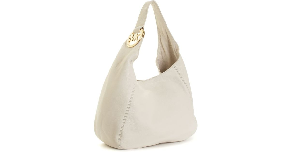 a15062f639879 Lyst - Michael Kors Michael Handbag Fulton Shoulder Bag Large in White