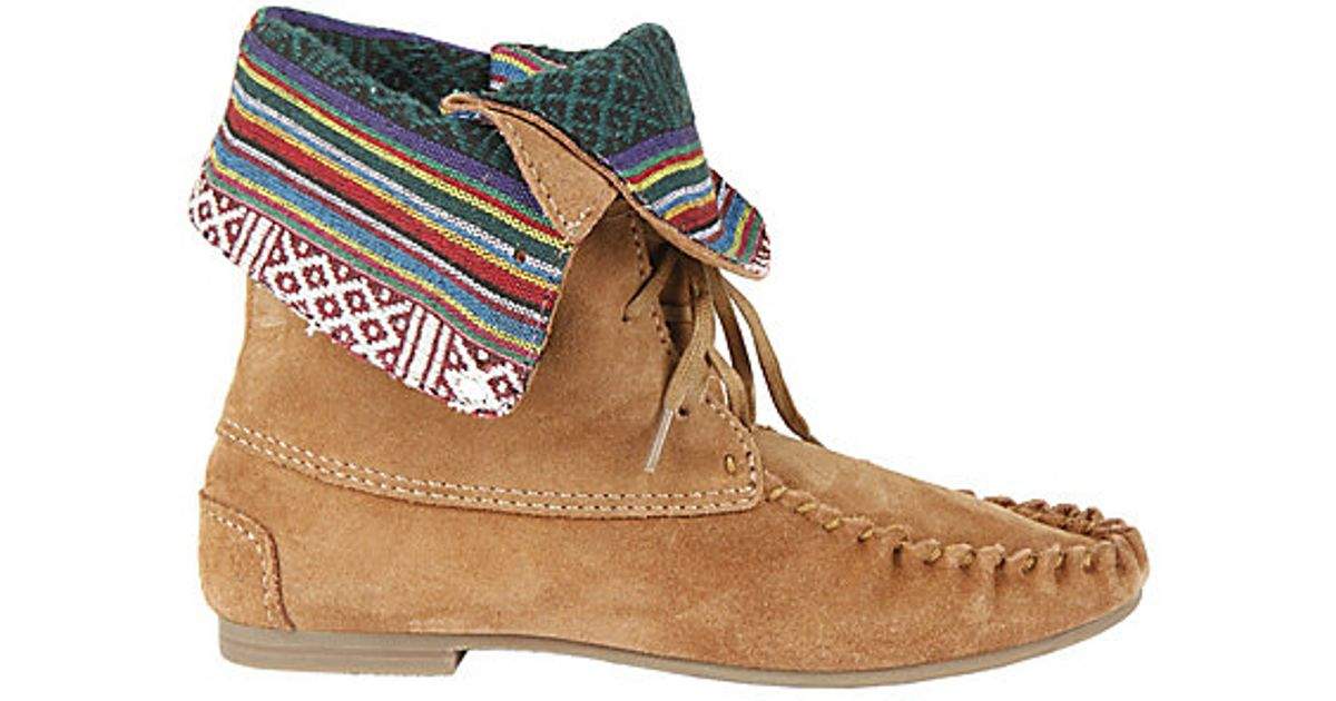 factory authentic attractive price 100% high quality Steve Madden Moccasin Boots in Chestnut (Brown) - Lyst