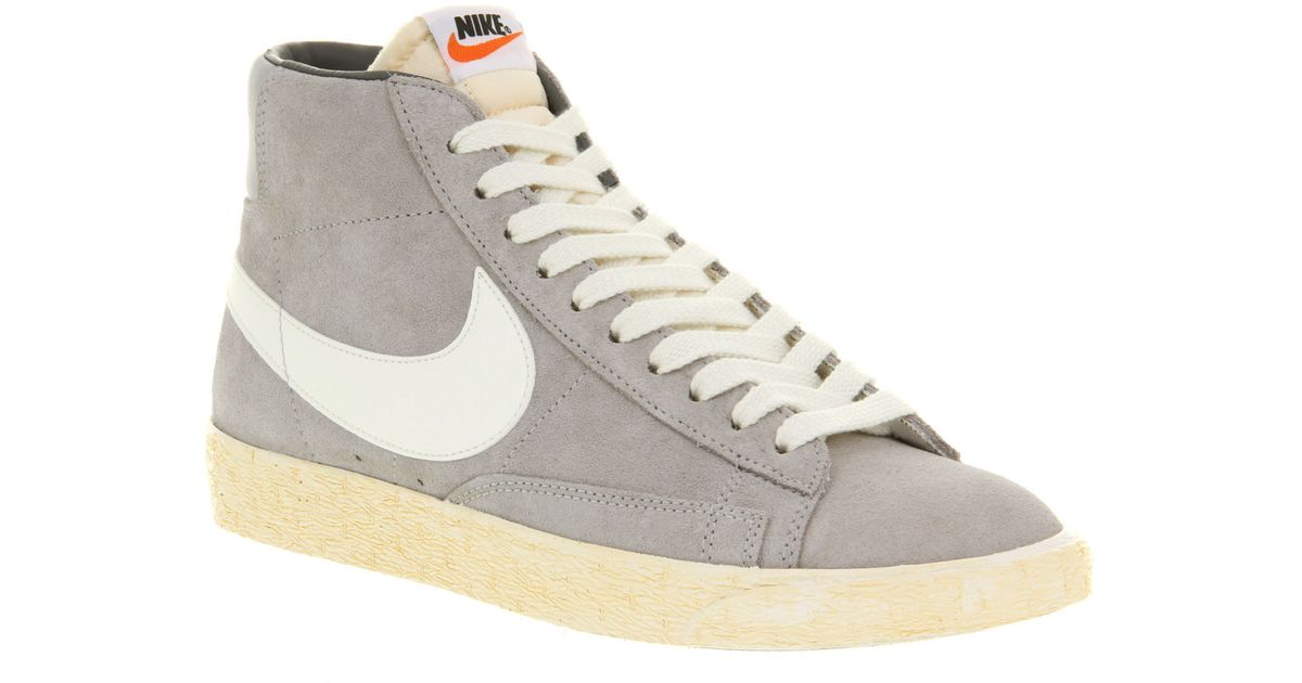 premium selection d6a4c 8642c ... Lyst - Nike Blazer Hi Suede Vntage Wolf Greywht in Gray for Men Nike  Blazer Mid Retro ...