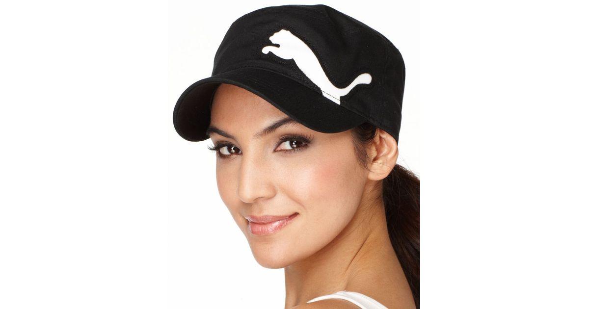 Lyst - PUMA Cat Logo Military Cap in Black 994092e57418