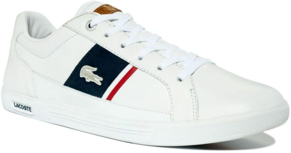 414b6eace Lyst - Lacoste Europa Sneakers in White for Men