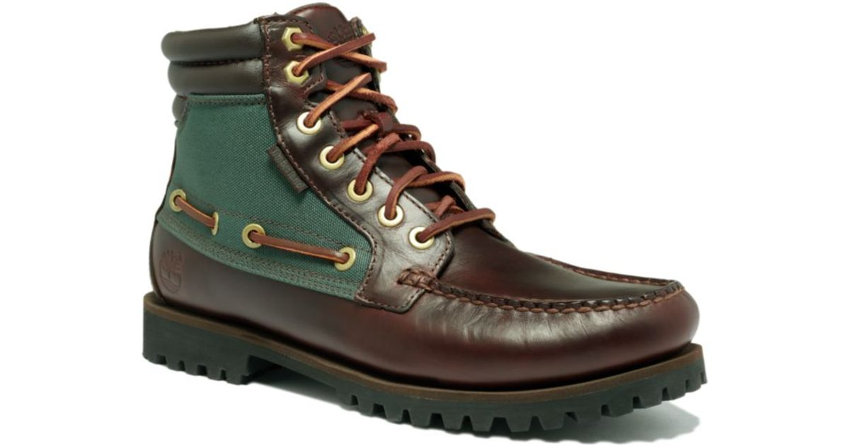 Timberland Green Oakwell 7 Eye Moc Toe Boots for men