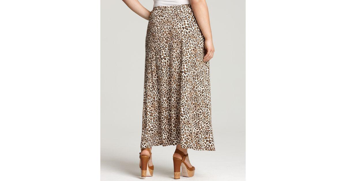 Plus Sizes Skulls Leopard Print Womens Patterend Maxi Skirt Tube Straight