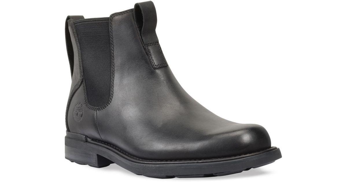 5336f569919 Timberland Black Mt Washington Waterproof Chelsea Boots for men