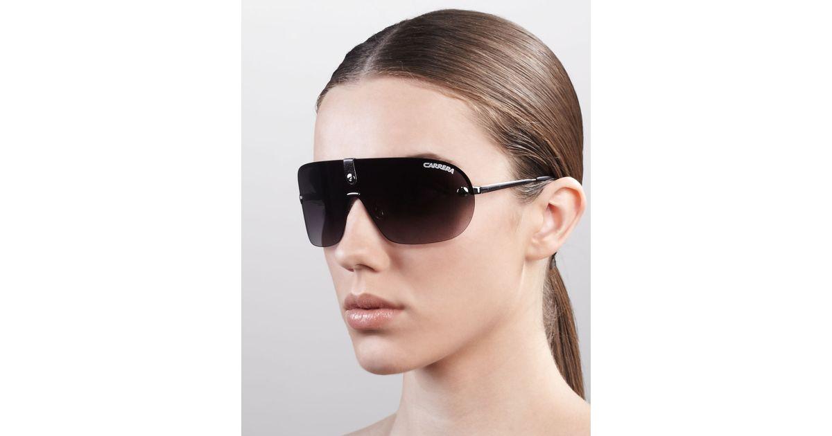 22dcf9e55b80 Carrera Rimless Shield Sunglasses in Gray - Lyst