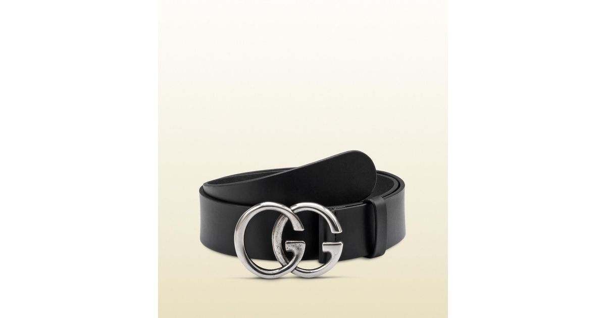 23ff8be87 Gucci Belt With Double G Buckle in Black for Men - Lyst