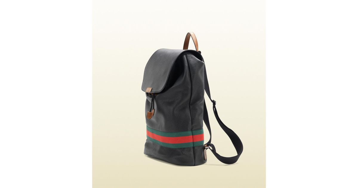 a973f69265c0 Lyst - Gucci Signature Web Backpack in Black for Men