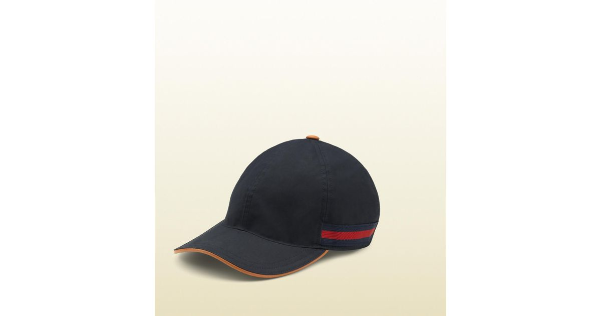 86904b3dc98 Gucci Gg Pattern Baseball Hat with Web Detail in Blue for Men - Lyst