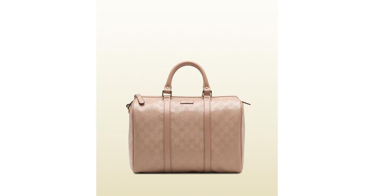 ad2855734 Gucci Joy Leather Boston Bag in Pink - Lyst