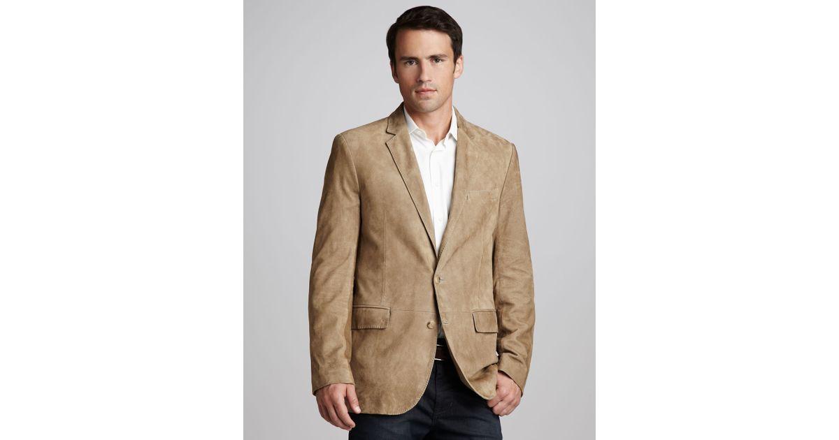 Ralph lauren black label Anthony Suede Sport Coat in Brown for Men ...