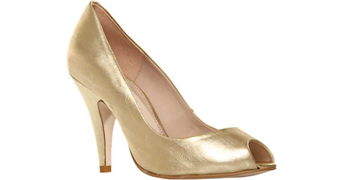 ad2ffe8029a4 Kg By Kurt Geiger Audrina Peep Toe Court Shoes Gold in Metallic - Lyst