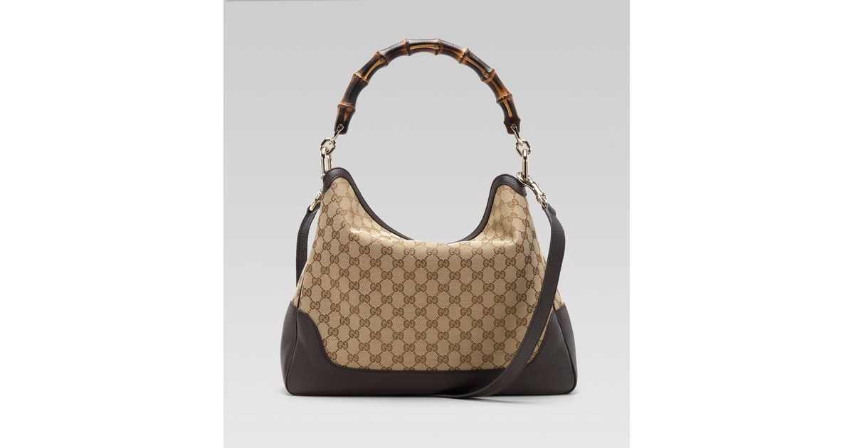 fc7361038e15 Gucci Diana Bamboo Handle Shoulder Bag in Brown - Lyst