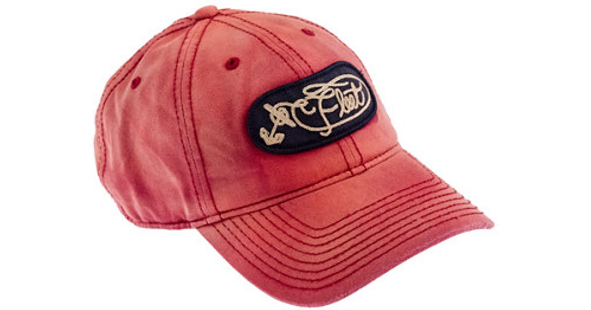 Lyst - J.Crew Salt Faded Baseball Cap with Patch in Red for Men 4a1c18dfb52