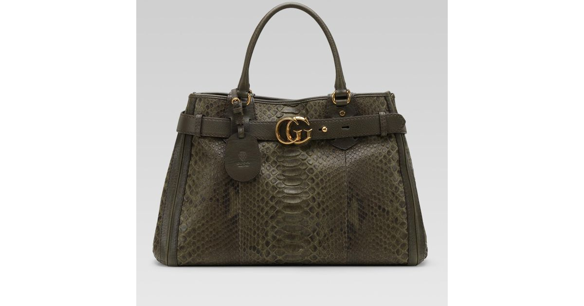 24000fa18d1 Lyst - Gucci Gg Running Large Tote With Double G Detail in Brown