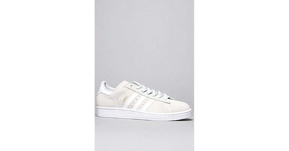Lyst - adidas The Campus 2 Suede Sneaker in Light Grey White in Gray for Men 891fabab9